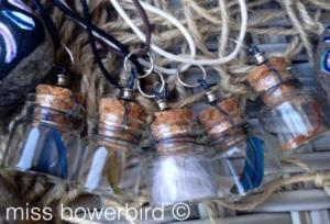 feather bottles compressed